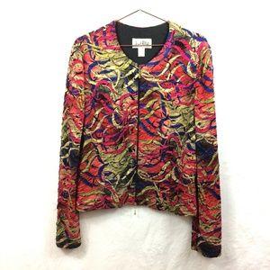Joseph Ribkoff Art to Wear Women's Jacket Sz 14